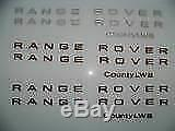 1987-1995 Range Rover Classic County 3D Letters Badge 87 88 89 90 91 92 93 94 95