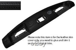 Black Leather Top Dash Dashboard Skin Cover Fits Range Rover Classic