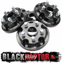 Black Raptor Range Rover Classic Wheel Adaptors for P38, Disco 2 Rims 70.1mm CB