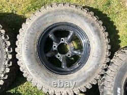 Disco 1 / Range Rover Classic Genuine Mach 5 Wheels And Tyres. MUST SEE