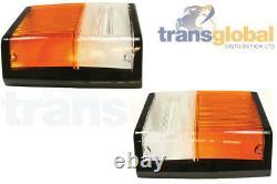 Front LH & RH Indicator & Side Light Lenses for Range Rover Classic Bearmach