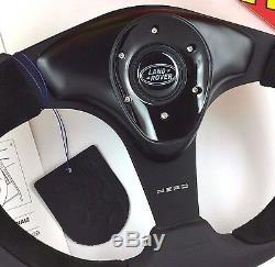 Genuine Momo Nero 350mm leather steering wheel and 48 spline hub. For Land Rover