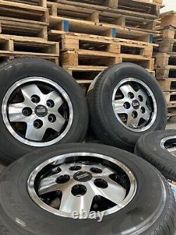 Genuine Range Rover Classic CSK LSE 16 Diamond Cut Wheels & Pirelli Tyres x4