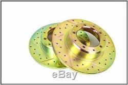 LAND ROVER RANGE CLASSIC DISCOVERY 1 DRILLED REAR BRAKE ROTOR DISC SET x2 NEW