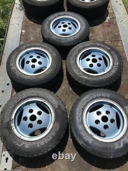 Land Range Rover Classic RRC 16 Alloy Wheels & Tyres 5x 3 Spoke NRC7900