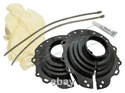 Land Rover Defender & Rr Classic & Discovery 1 Front Swivel Rubber Gaiter Kit
