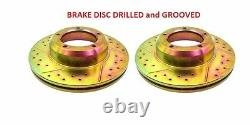 Land Rover Range Classic Discovery 1 Defender Front Brake Drilled Rotor Disc Set
