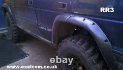 RANGE ROVER CLASSIC 5 doors EXTENDED WHEEL ARCH SET x 6 made of grp