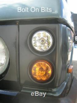 RDX LED Front Light/lamp BLACK Pods Range Rover Classic NEW