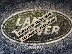 Range Rover Classic 2 Door Wing Scuttle Badges (Early Recessed Lettering)
