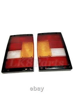 Range Rover Classic Rear Tail Light Lamps LH & RH LENS with Black Edges New