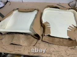 Range Rover Classic early type Leather seat covers and NEW foams. Offside seat