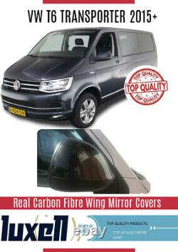 VW T6 Transporter 2015+ REAL CARBON FIBRE WING MIRROR COVERS 2 PIECES