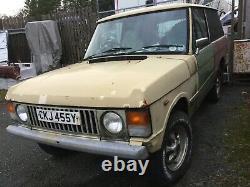 Van Body Range Rover Classic. Rare Galvanised Chassis 3 Door